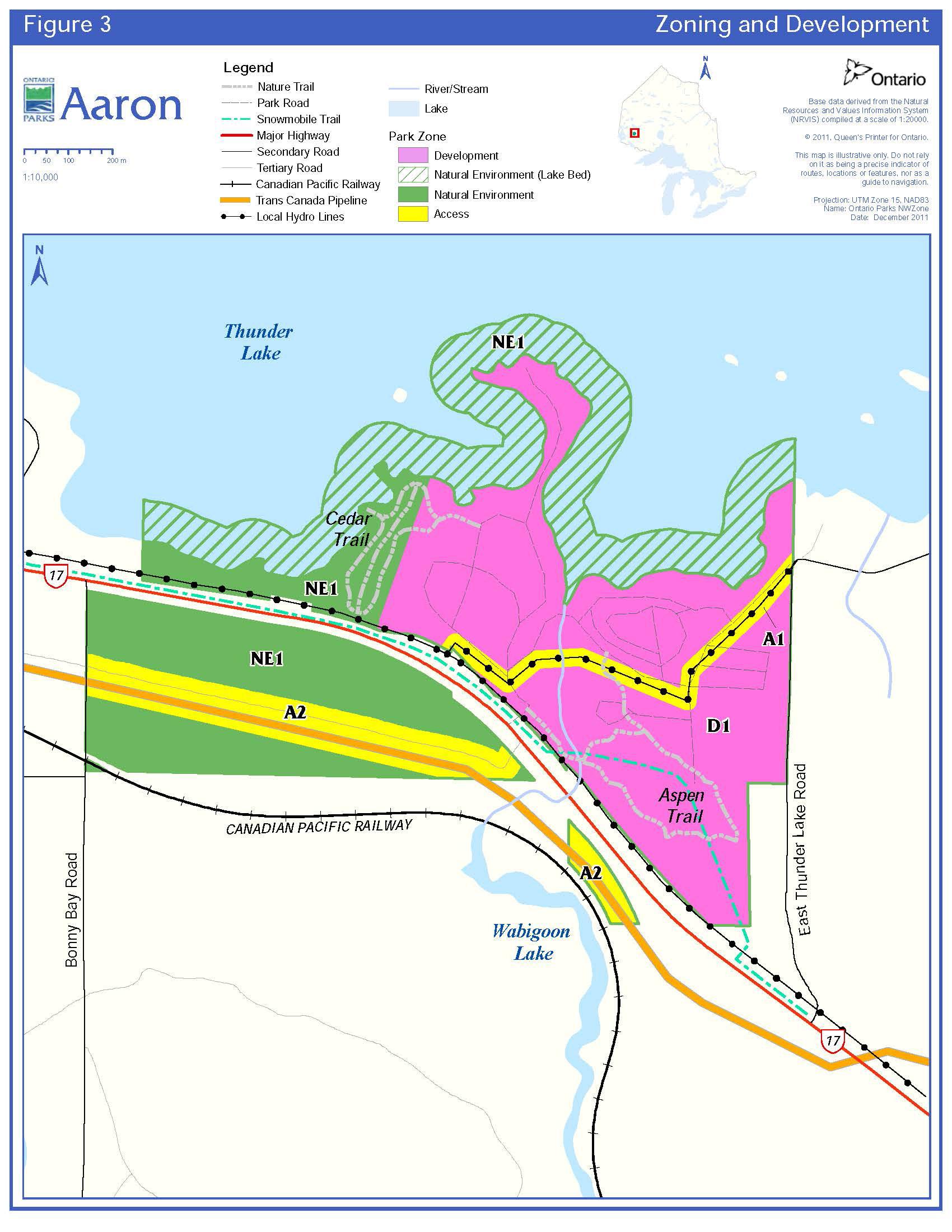 Aaron provincial park management plan ontario enlarge figure 3 zoning and development pooptronica