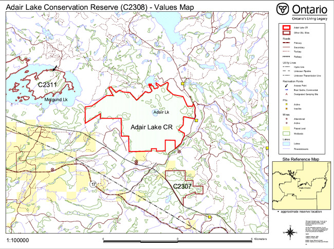 Adair Lake Conservation Reserve Management Statement