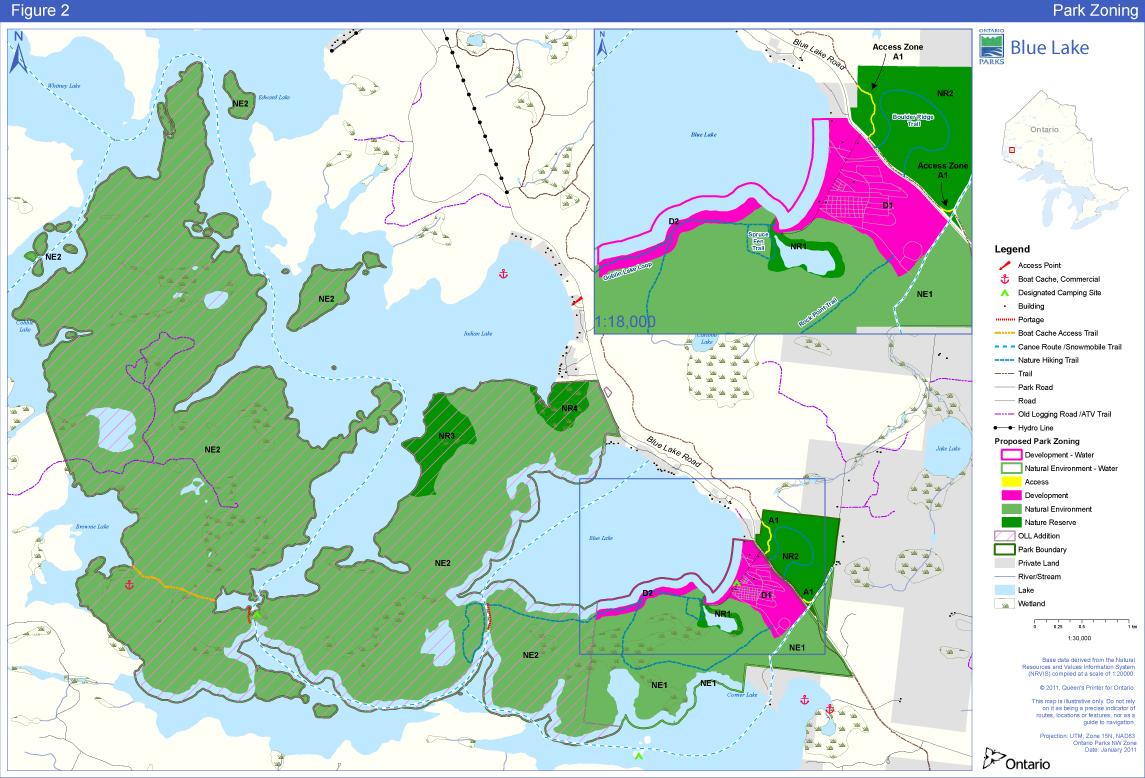 blue lake ontario map Blue Lake Provincial Park Management Plan Ontario Ca blue lake ontario map
