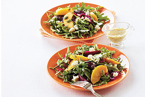 Peach, Beet and Arugula Salad