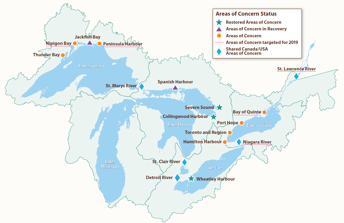 Map Of Canada 5 Great Lakes.Ontario S Great Lakes Strategy 2016 Progress Report Ontario Ca
