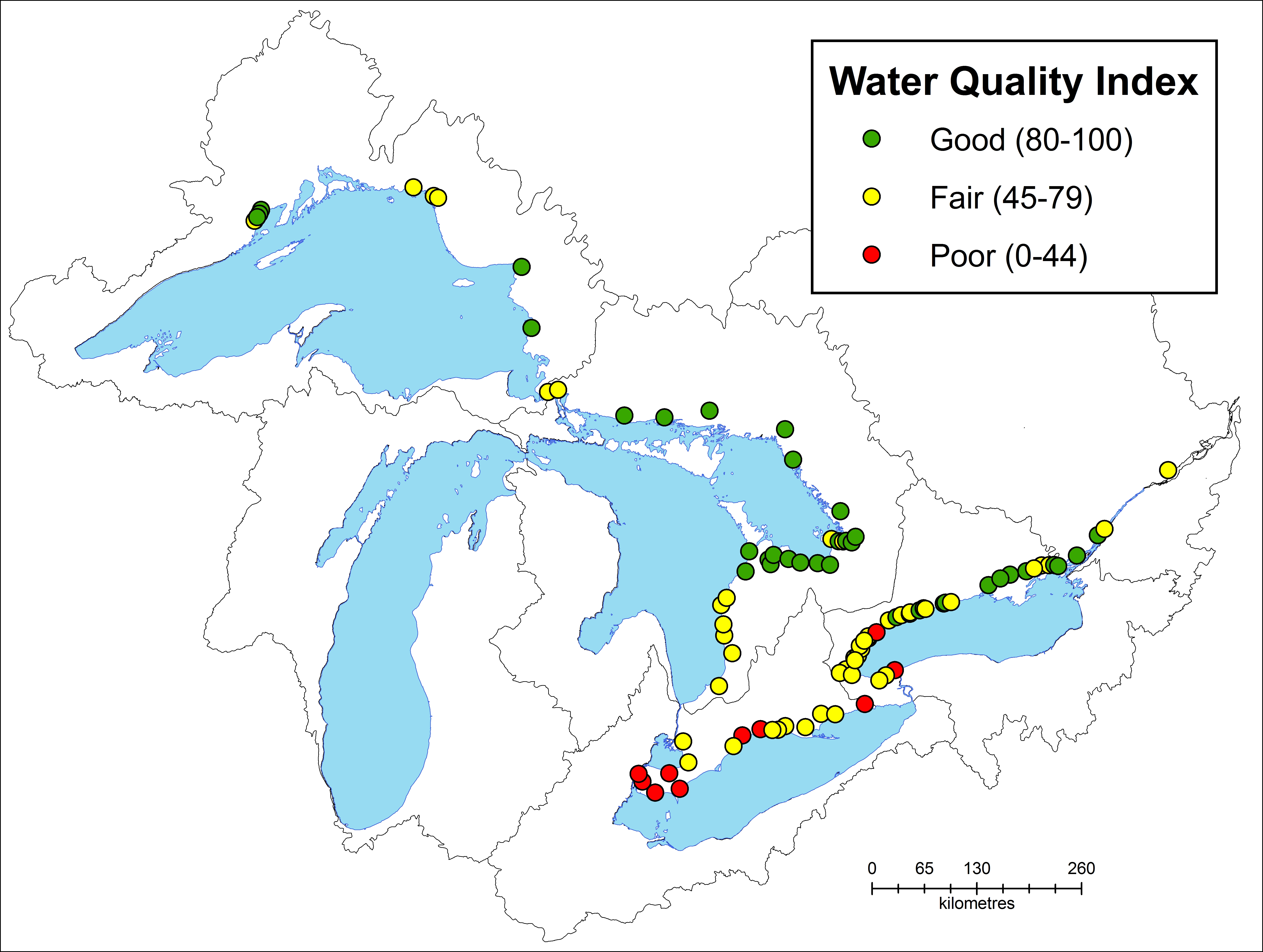 Water Quality In Ontario Report Ontarioca - Water runoff table map us
