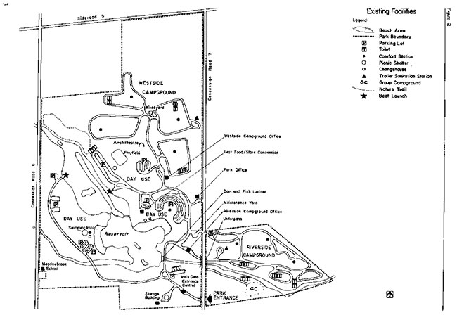 Map of Existing Facilities