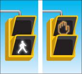 a pedestrian walk signal