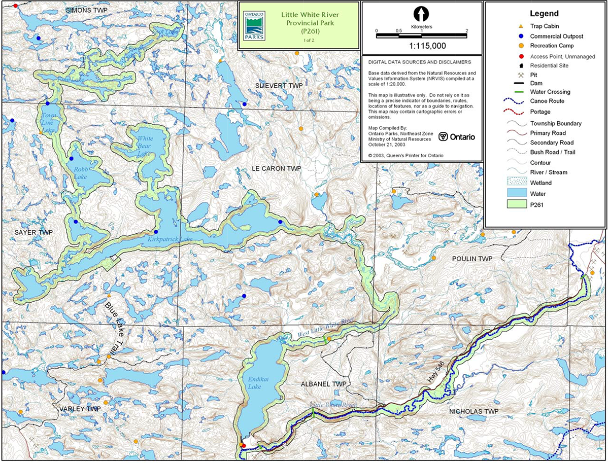blue lake ontario map Little White River Provincial Park Management Statement Ontario Ca blue lake ontario map