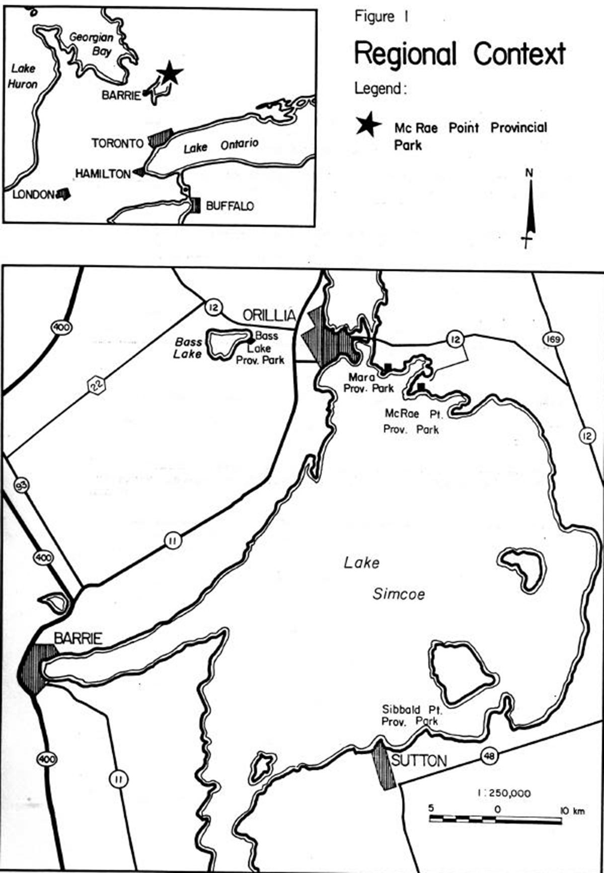 Mcrae Point Provincial Park Management Plan Woods Mowing Machine 6100 Wiring Digram Enlarge Figure 1 Regional Context