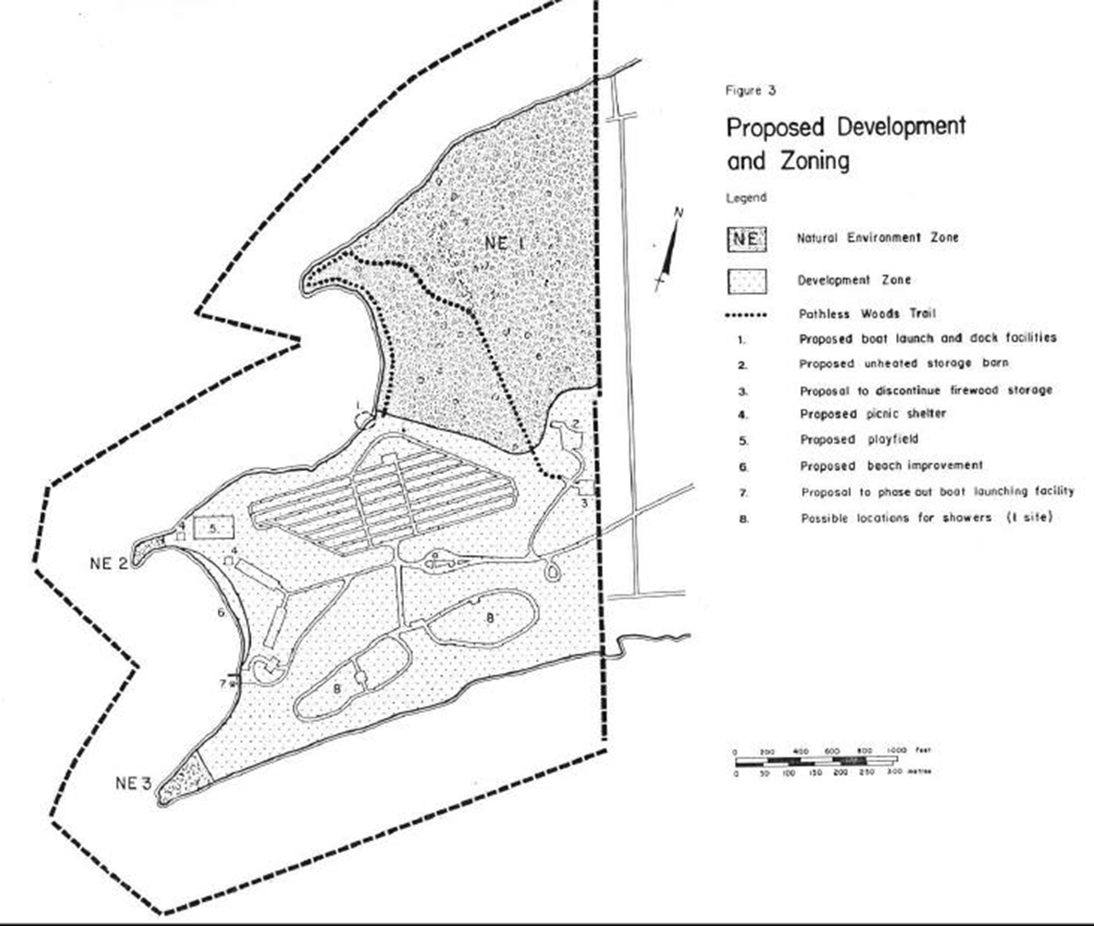 Mcrae Point Provincial Park Management Plan Woods Mowing Machine 6100 Wiring Digram Enlarge Figure 3 Proposed Development And Zoning Map