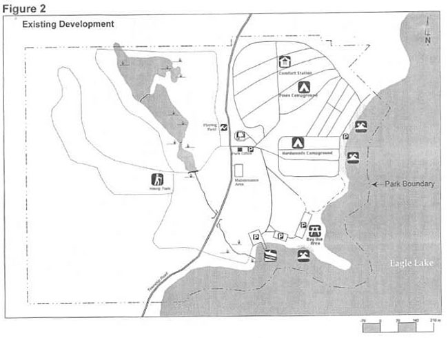 This map shows a detailed information about the Existing Development.