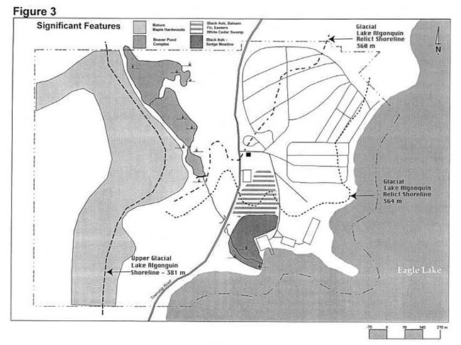 This map shows detailed information about the significant features of Mikisew Provincial Park.