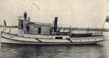 """photo of the """"Gilphie"""", which was one of the first boats used for patrols on the Great Lakes."""