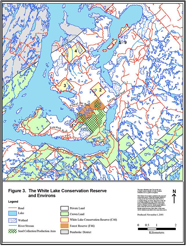 white lake ontario fishing map White Lake Conservation Reserve Management Statement Ontario Ca white lake ontario fishing map