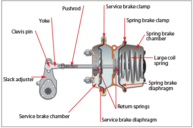 spring parking and emergency brake subsystem ontario ca rh ontario ca School Bus Air Brake Diagram Air Brake Drum Diagram