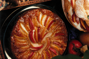 Apple-Pear Buttermilk Cake with Maple Syrup Glaze
