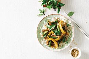 Asparagus pork stir-fry