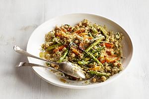 Quinoa and Grilled Asparagus Salad