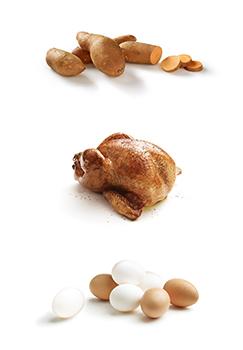patates douces, de dinde et d'œufs