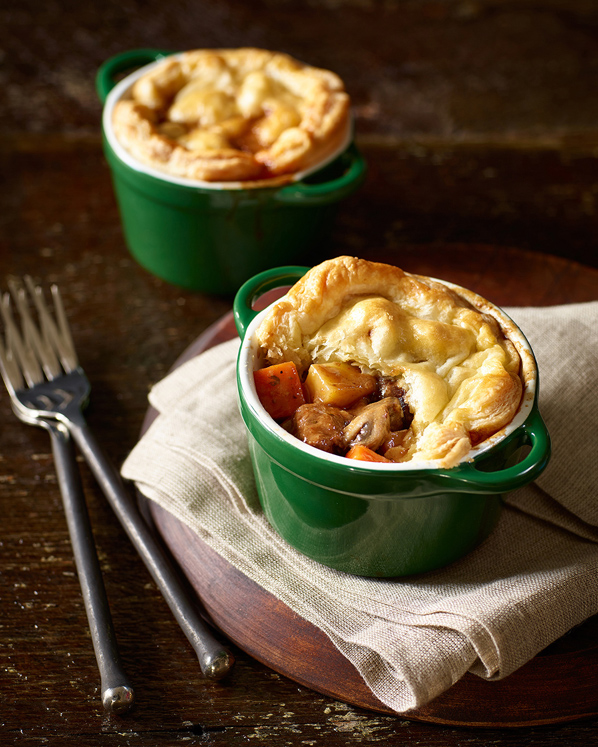 Beef, Potato and Stout Pies
