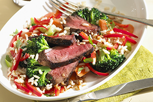 Beef and Vegetable Rice Salad