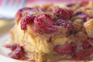 Pudding aux fraises