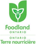 Logo vert Ontario, terre nourricière sur fond blanc