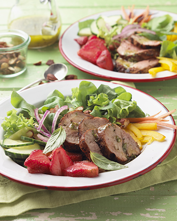 Blackened Pork and Strawberry Salad