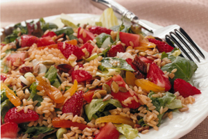Brown Rice and Strawberry Salad