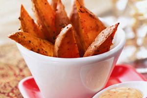Cajun Sweet Potato Fingers with Chili Mayonnaise