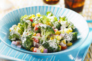 Caribbean Corn and Broccoli Salad