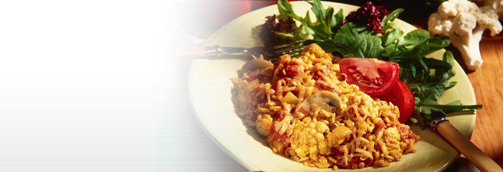 plat cuisiné au chou-fleur, lentilles et riz | ontario terre
