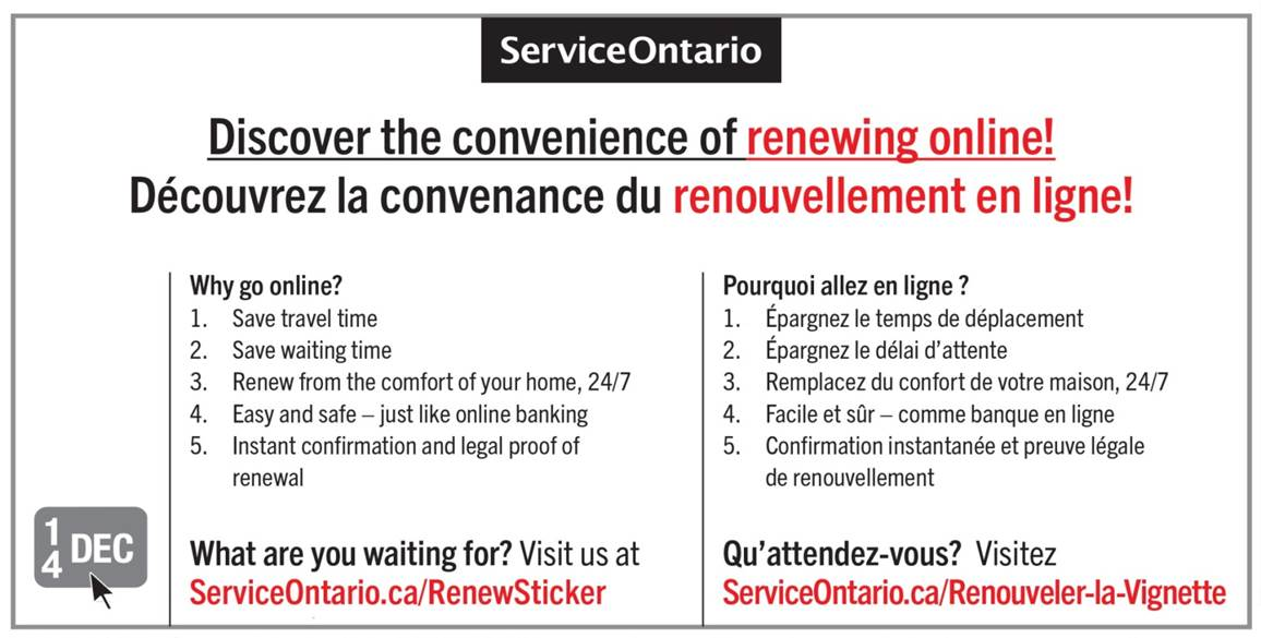 renew drivers license in person ontario