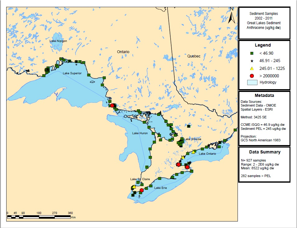 Status Of Tier 1 And Tier 2 Chemicals In The Great Lakes Basin Under