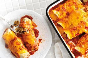 Chicken and Mushroom Enchiladas