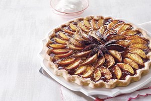 Peach, Plum Pear Tart