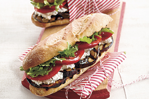 Grilled Eggplant Subs