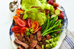 Family Steak and Vegetable Platter