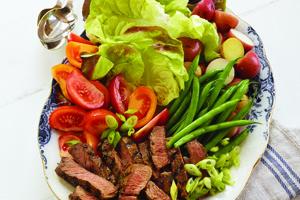 Family Steak and Vegetable Platter
