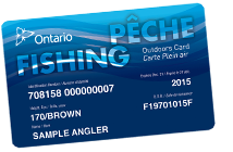 Ontario Fishing License Outdoors Card