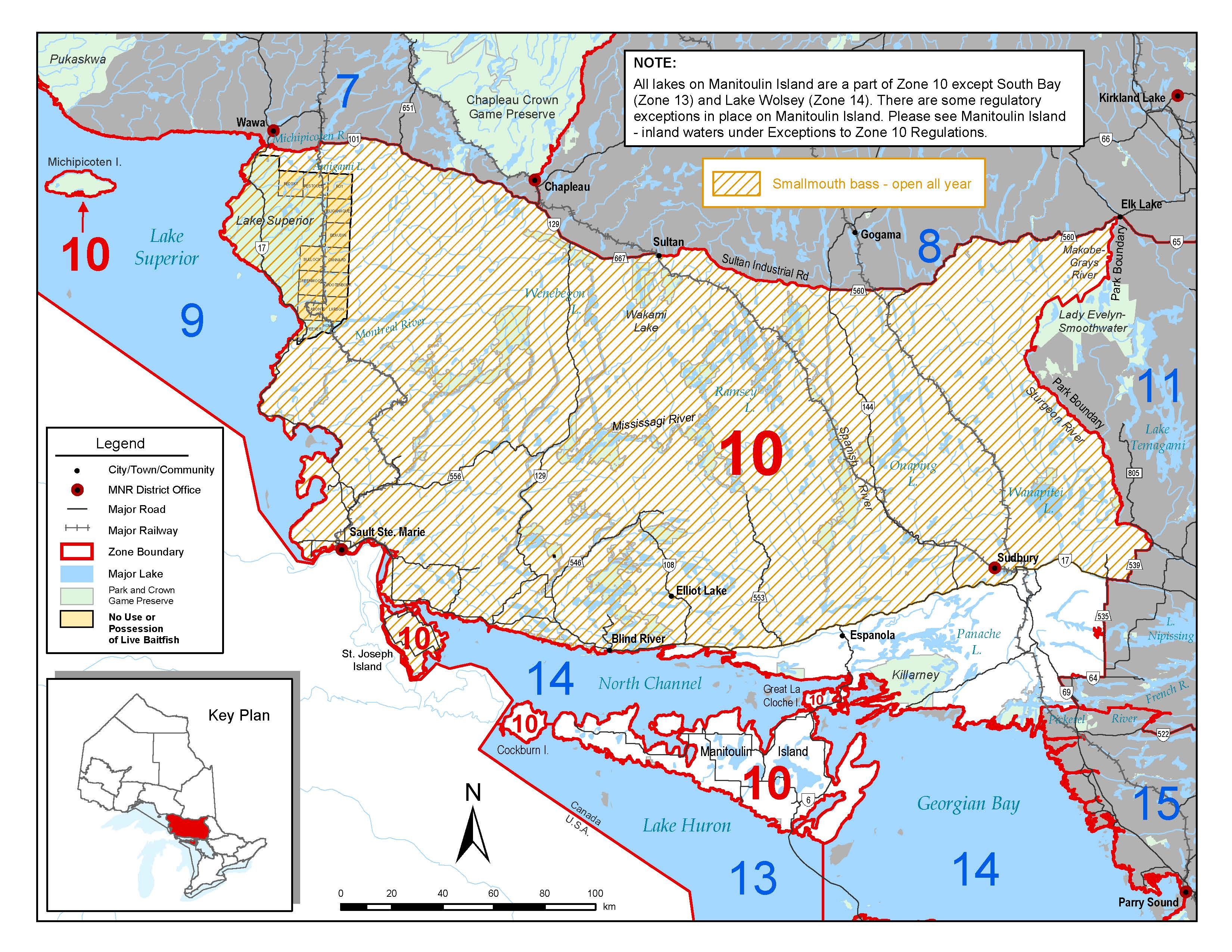 Fisheries management zone 10 fmz 10 for California fishing limits