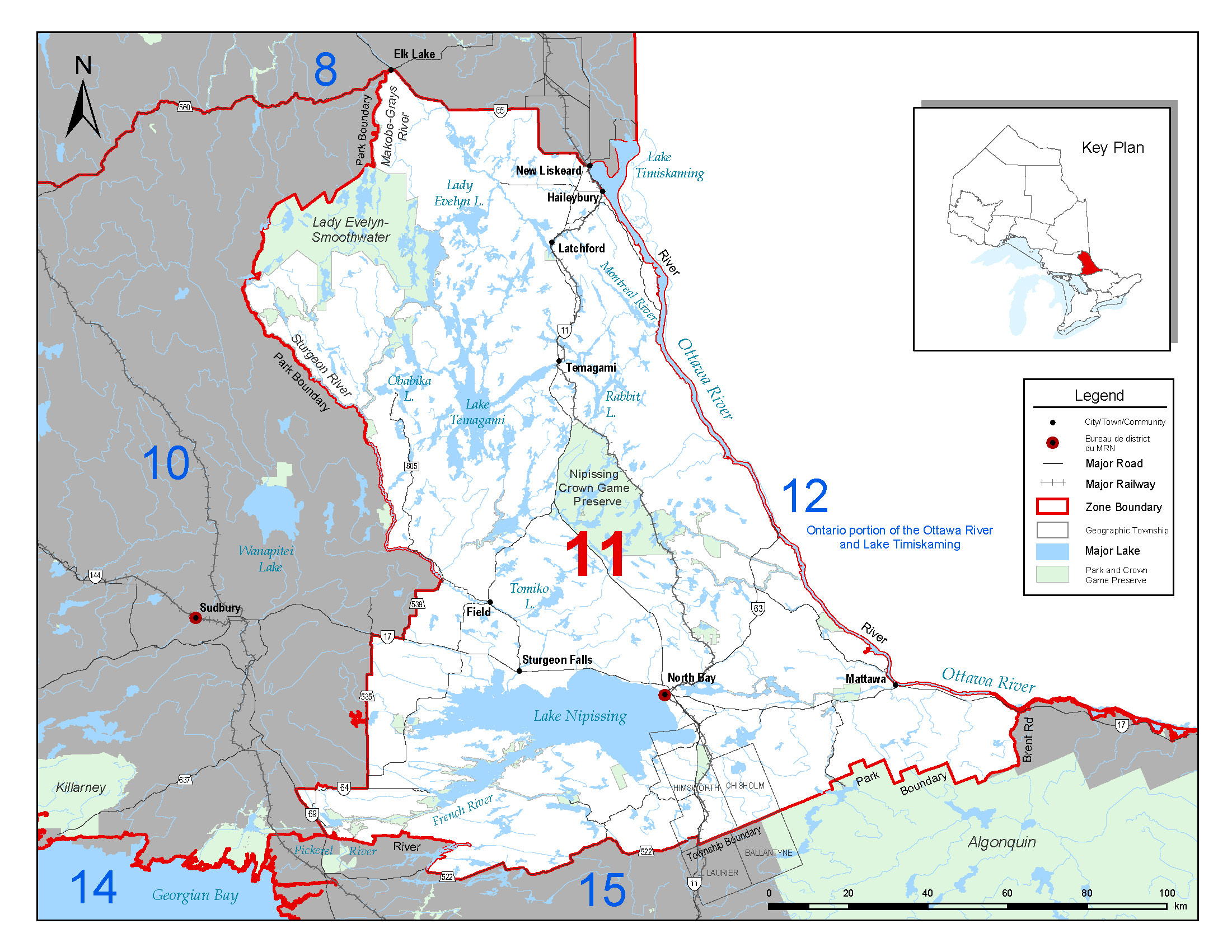 Fisheries management zone 11 fmz 11 for Ontario fishing license