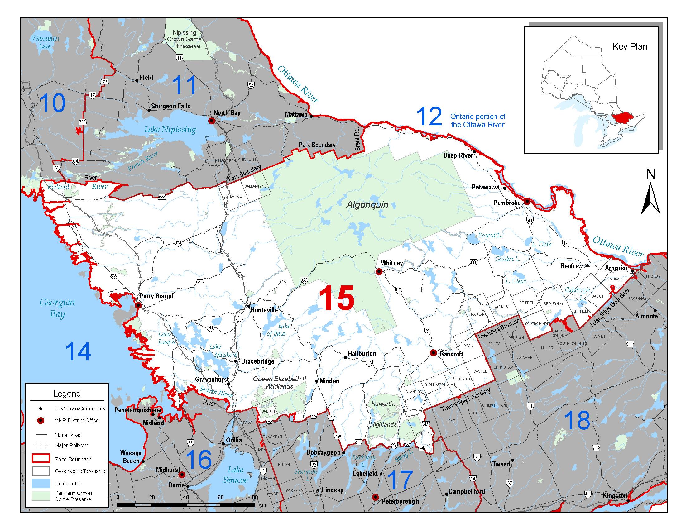 Fisheries management zone 15 fmz 15 for Ontario fishing license