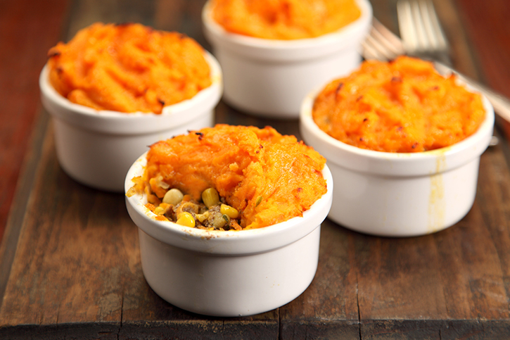 Big Batch Cheesy Sweet Potato Shepherd's Pie