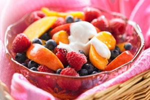 Fruit Salad with Easy Crème Fraîche