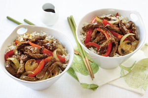 Gingered Beef with Peppers