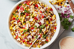 Grilled Corn and Turkey Salad