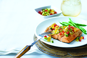 Grilled Trout with Tomato Salsa