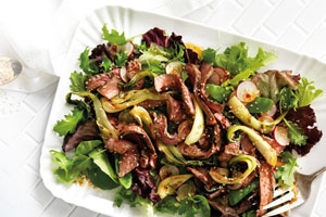 Grilled Beef and Bok Choy Salad