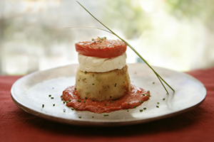 Herbed Potato Towers with Roasted Tomato