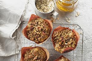 Honey Oat Apple Muffins
