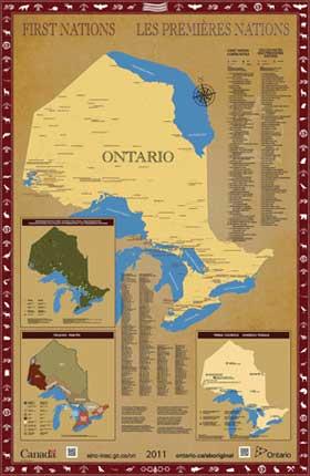 Carte des Premières Nations de l'Ontario