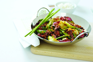 Spicy Beef and Bok Choy Stir-Fry